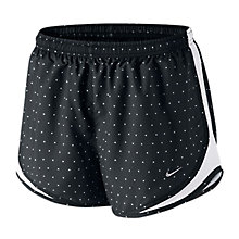Buy Nike Women's Polka Dot Print Tempo Shorts, Black/White Online at johnlewis.com