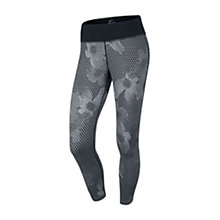 Buy Nike Epic Printed Cropped Running Tights, Grey/Black Online at johnlewis.com