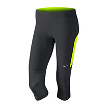 Buy Nike Filament Capri Pants, Black/Yellow Online at johnlewis.com