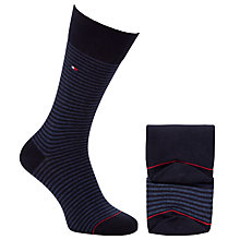 Buy Tommy Hilfiger Fine Stripe Socks, Pack of 2, Blue/Navy Online at johnlewis.com