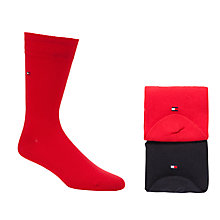 Buy Tommy Hilfiger Plain Socks, 2 Pack, Red/Blue Online at johnlewis.com