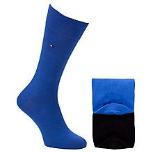 Buy Tommy Hilfiger Plain Socks, Pack of 2, Blue Black Online at johnlewis.com