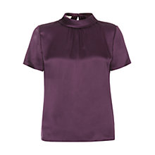 Buy Hobbs Cait Top, Pansy Purple Online at johnlewis.com