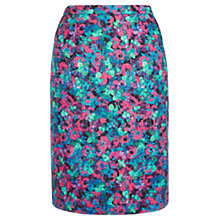 Buy Jigsaw Layered Bloom Print Skirt, Blue Online at johnlewis.com