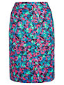 Jigsaw Layered Bloom Print Skirt, Blue