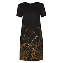 Buy Hobbs Fountaine Dress, Black Wheat Gold Online at johnlewis.com