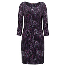 Buy Jigsaw Splash Print Dress, Black Online at johnlewis.com