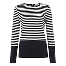 Buy Hobbs Iona Top, Navy/Ivory Online at johnlewis.com