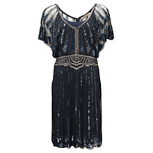 Buy Jigsaw Infinity Bead Flapper Dress, Dark Navy Online at johnlewis.com