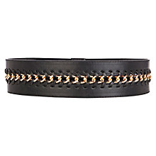 Buy Warehouse Chain Insert Waist Belt, Black Online at johnlewis.com