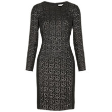 Buy Whistles Naomi Sequin Dress, Black Online at johnlewis.com
