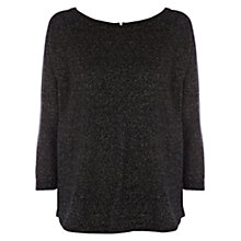 Buy Warehouse Zip Back Sparkle Jumper Online at johnlewis.com