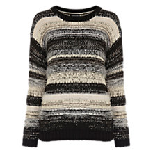 Buy Warehouse Fluffy Stripe Jumper, Multi Online at johnlewis.com