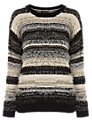 Warehouse Fluffy Stripe Jumper, Multi