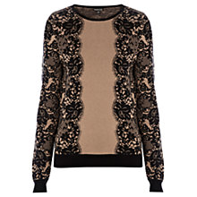 Buy Warehouse Lace Pattern Jumper, Camel Online at johnlewis.com