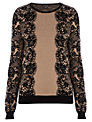 Warehouse Lace Pattern Jumper, Camel