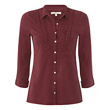 Buy White Stuff Butterkiss Shirt, Burnt Red Online at johnlewis.com