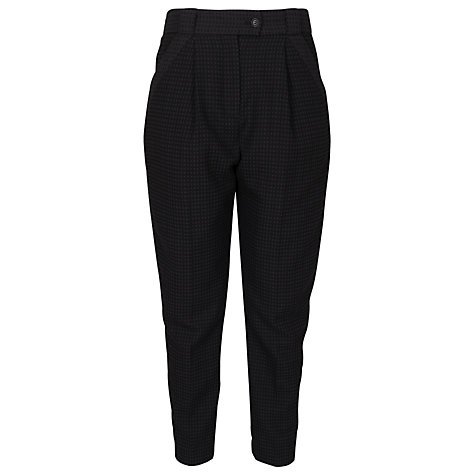 Buy French Connection Graph Checked Trousers, Oxblood/Black Hanger Online at johnlewis.com
