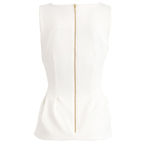 Buy Almari Waffle Top, Ivory Online at johnlewis.com