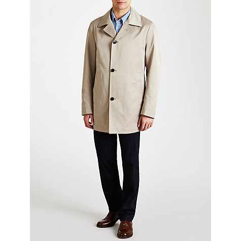 Buy BOSS Dais Water Repellent Coat, Stone Online at johnlewis.com