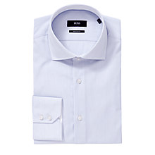 Buy Boss Black Juri Slim Fit Easy Iron Long Sleeve Shirt, Blue Online at johnlewis.com