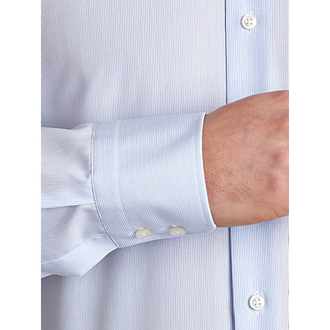 Buy BOSS Juri Slim Fit Easy Iron Long Sleeve Shirt, Blue Online at johnlewis.com