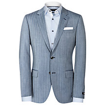 Buy BOSS Hutson Blazer, Grey Online at johnlewis.com