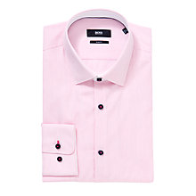 Buy Boss Black Eraldin Easy Iron Slim Fit Long Sleeve Shirt, Pink Online at johnlewis.com