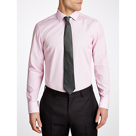 Buy BOSS Eraldin Easy Iron Slim Fit Long Sleeve Shirt, Pink Online at johnlewis.com