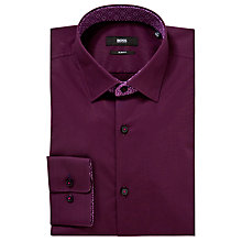 Buy BOSS Juri Slim Fit Long Sleeve Shirt, Purple Online at johnlewis.com