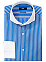BOSS Johan Stripe Easy-Iron Long Sleeve Shirt, Blue/White