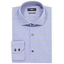 Buy BOSS Gorman Fine Gingham Check Shirt, Blue Online at johnlewis.com