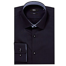 Buy BOSS Juri Easy Iron Long Sleeve Shirt, Purple Online at johnlewis.com