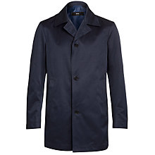 Buy BOSS Dais Water Repellent Coat, Dark Blue Online at johnlewis.com