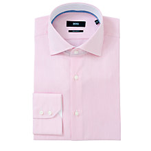 Buy BOSS Eraldin Easy Iron Long Sleeve Shirt, Pink Online at johnlewis.com