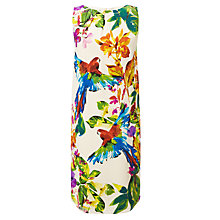 Buy COLLECTION by John Lewis Silk Edyta Parrot Print Dress, Ivory Online at johnlewis.com