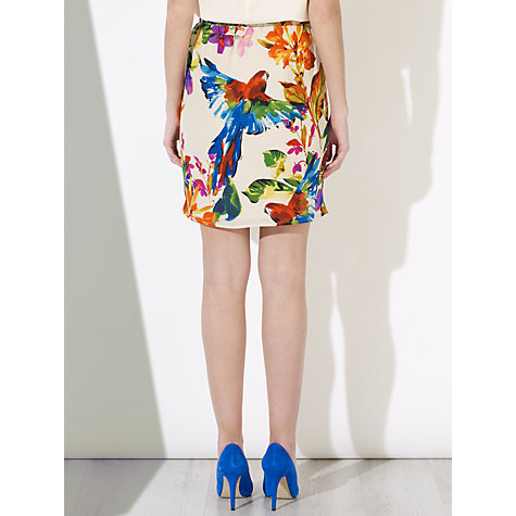 Buy COLLECTION by John Lewis Lotti Parrot Print Silk Skirt, Ivory Online at johnlewis.com