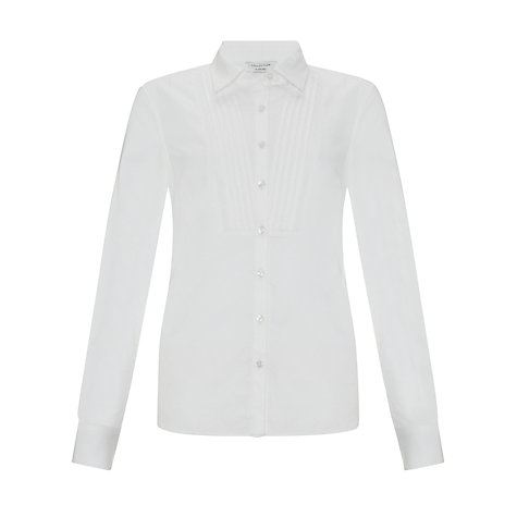 Buy COLLECTION by John Lewis Maria Bib Front Shirt, White Online at johnlewis.com