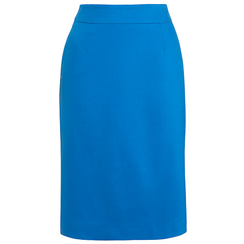 Buy COLLECTION by John Lewis Cindy Pencil Skirt, Azure Online at johnlewis.com