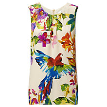 Buy COLLECTION by John Lewis Juliet Parrot Silk Blouse, Ivory Online at johnlewis.com