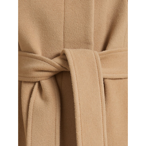 Buy Jigsaw Funnel Neck Belt Coat, Camel Online at johnlewis.com