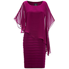 Buy Adrianna Papell Chiffon Drape Dress, Crushed Berry Online at johnlewis.com
