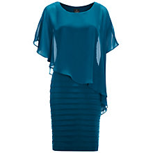 Buy Adrianna Papell Chiffon Drape Dress, Deep Turquoise Online at johnlewis.com