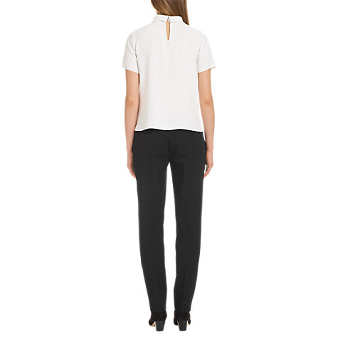 Buy Jigsaw Spring Gaberdine Trousers, Black Online at johnlewis.com
