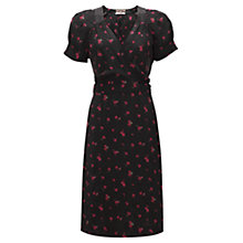 Buy Jigsaw Ditsy Wrap Dress, Black Online at johnlewis.com