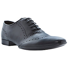 Buy Dune Abstract Wing-Tip Brogues, Black Online at johnlewis.com