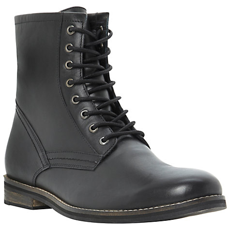 Buy Dune Leather Lace-Up Military Boots Online at johnlewis.com