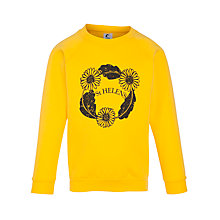 Buy St Helen's School Unisex Daisy Print Sweatshirt, Yellow Online at johnlewis.com
