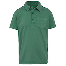 Buy John Lewis Boy Short Sleeve Polo Shirt, Green Online at johnlewis.com