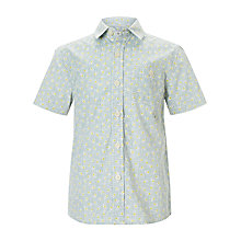 Buy Kin by John Lewis Boys' Short Sleeve Circles Shirt, Blue/Yellow Online at johnlewis.com